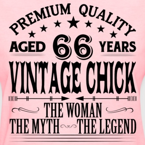 VINTAGE CHICK AGED 66 YEARS T-Shirts - Women's T-Shirt