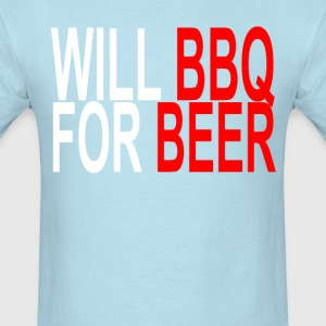 will_bbq_for_beer_ - Men's T-Shirt