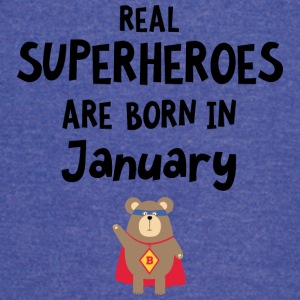 Superheroes are born in January Syus3 T-Shirts - Vintage Sport T-Shirt