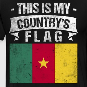 This is My Country's Flag Cameroonian Flag Day  T-Shirts - Men's Premium T-Shirt