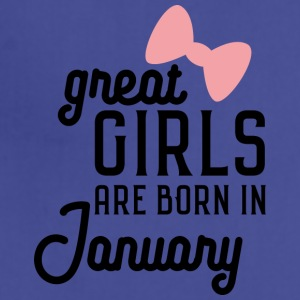 Great Girls are born in January Se0s7 Aprons - Adjustable Apron