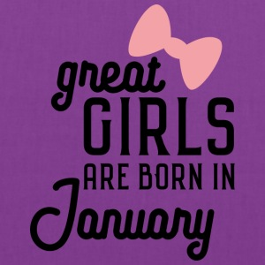 Great Girls are born in January Se0s7 Bags & backpacks - Tote Bag
