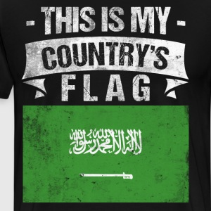 This is My Country's Flag Saudi Flag Day T-Shirt T-Shirts - Men's Premium T-Shirt