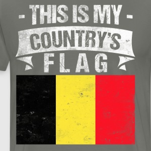 This is My Country's Flag Belgian Flag Day T-Shirt T-Shirts - Men's Premium T-Shirt