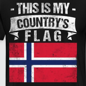 This is My Country's Flag Norwegian Flag Day Shirt T-Shirts - Men's Premium T-Shirt