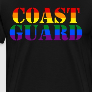 Coast Guard Rainbow LGBT Pride Military T-Shirt T-Shirts - Men's Premium T-Shirt