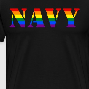US Navy Rainbow LGBT Pride Military T-Shirt T-Shirts - Men's Premium T-Shirt