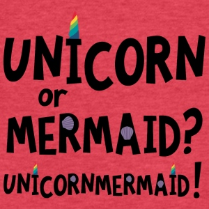 Unicorn or Mermaid S2f4x T-Shirts - Fitted Cotton/Poly T-Shirt by Next Level