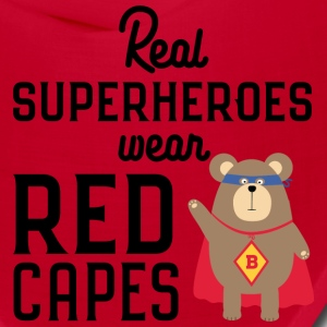 Superhero red Cape grizzly Svq0t Caps - Bandana