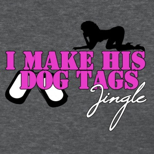 I MAKE HIS DOG TAGS JINGLE (Pink) - Women's T-Shirt