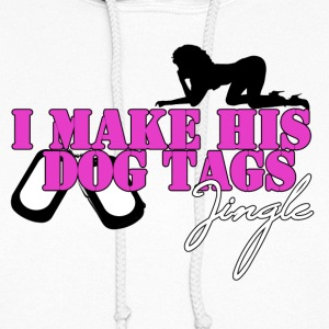 I MAKE HIS DOG TAGS JINGLE (Pink) - Women's Hoodie