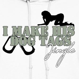 I Make His Dog Tags Jingle (Grey) - Women's Hoodie