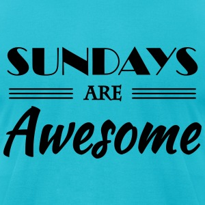 Sundays are awesome T-Shirts - Men's T-Shirt by American Apparel