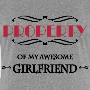 Property of my awesome girlfriend T-Shirts - Women's Premium T-Shirt