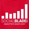 Social Blade (2017) - Kids (Red) (Easy) - Kids' T-Shirt