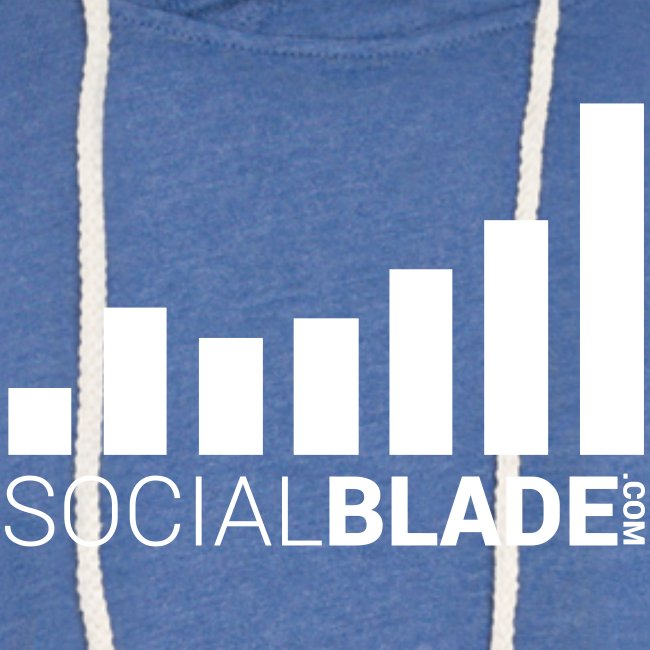 Social Blade (2017) - Unisex Hoodie (Heather Blue)