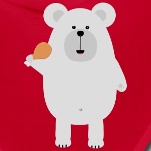 Polar Bear with Chicken leg Suo46 Caps - Bandana