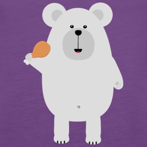 Polar Bear with Chicken leg Suo46 Tanks - Women's Premium Tank Top