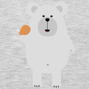 Polar Bear with Chicken leg Suo46 Long Sleeve Shirts - Men's Premium Long Sleeve T-Shirt