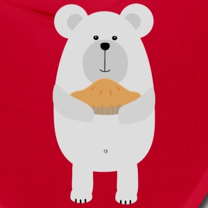 Polar Bear with pie Saw97 Caps - Bandana