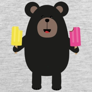 Black Bear with Icecream Six38 Sportswear - Men's Premium Tank
