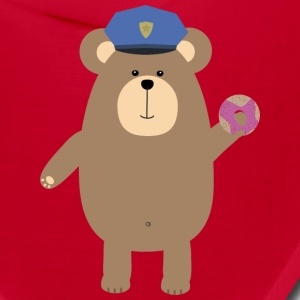 Police Office Brown Bear Sns52 Caps - Bandana