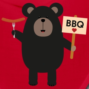 BBQ Black bear with sausage Slx37 Caps - Bandana