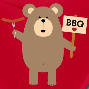 BBQ Brown Bear with Sausage Sn8q1 Caps - Bandana