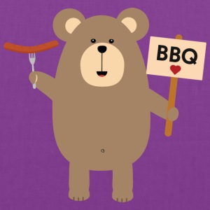 BBQ Brown Bear with Sausage Sn8q1 Bags & backpacks - Tote Bag
