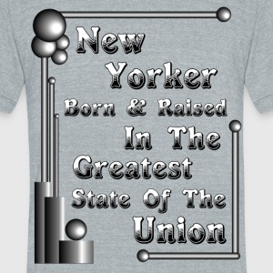 New York Born & Raised Mens American Apparel T-Shi - Unisex Tri-Blend T-Shirt by American Apparel