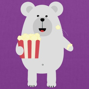 Polar Bear with popcorn Sq979 Bags & backpacks - Tote Bag