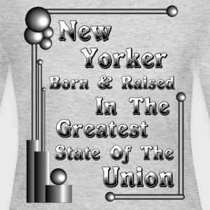 New York Born & Raised Womens Long Sleeve T-Shirt - Women's Long Sleeve Jersey T-Shirt