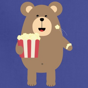 Brown Bear eating popcorn S13s7 Aprons - Adjustable Apron