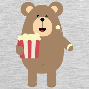 Brown Bear eating popcorn S13s7 Sportswear - Men's Premium Tank