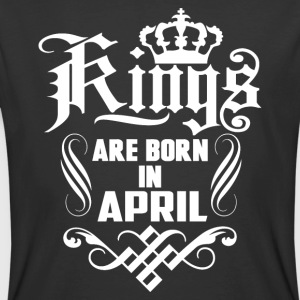 Kings are born in April birthday t-shirt - Men's 50/50 T-Shirt