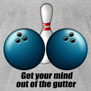 mind_out_of_gutter_bowling T-Shirts - Men's T-Shirt by American Apparel
