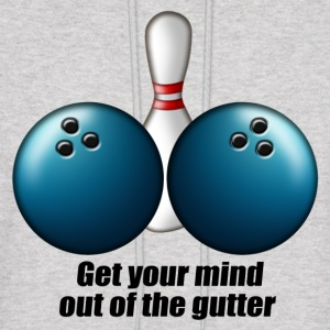 mind_out_of_gutter_bowling Hoodies - Men's Hoodie