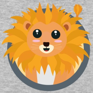 Kawaii lion with circle Sk74q T-Shirts - Baseball T-Shirt