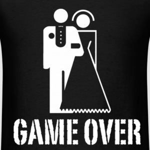 Game Over Marriage Design T-Shirts - Men's T-Shirt