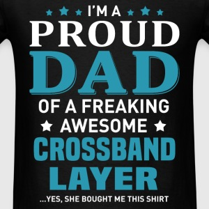 Crossband Layer's Dad - Men's T-Shirt