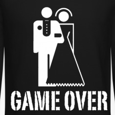 Game Over Marriage Design Long Sleeve Shirts