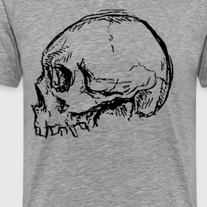 Distressed Skull 2 - Men's Premium T-Shirt