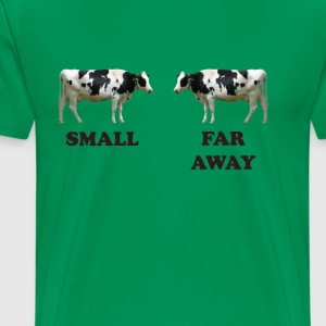 Cows - Small, far away - Men's Premium T-Shirt