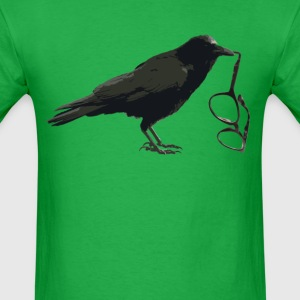 Crow with Glasses - Men's T-Shirt