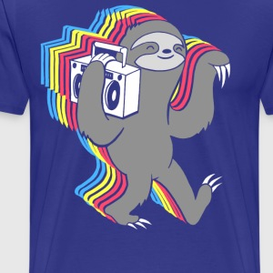 Slow Jams (Boombox Sloth)  - Men's Premium T-Shirt