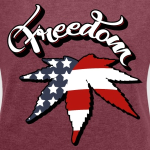 FREEDOM HEMP USA T-Shirts - Women´s Roll Cuff T-Shirt