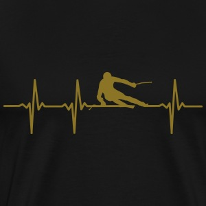 Ski Heartbeat - Men's Premium T-Shirt