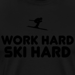 Work hard ski hard - Men's Premium T-Shirt