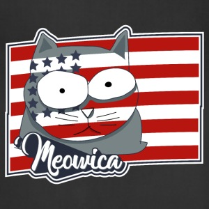 FREEDOM CAT FLAG Meowica Patriot Shirt Aprons - Adjustable Apron