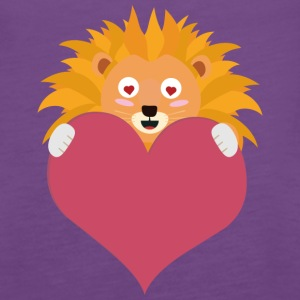 Romantic Lion with heart S5e8y Tanks - Women's Premium Tank Top